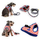 Brand New Lovabledog 2 Color Striped Navy Protective Soft Harness for Dog Puppy