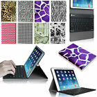 Slim Leather Case Cover Detachable Wireless Bluetooth Keyboard for Apple iPad