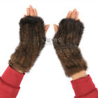 New Real Knitted Mink Fur 4 Color Winter Mittens Gloves Scarf A477