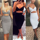 Sexy Cut Out Bandage Strap Sleeveless Club Party Cocktail Bodycon Mini Dress