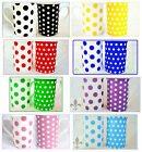 Dots and Spots Mugs Set of 2 Bone China Mixed Mugs Different Colours Available