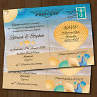 Personalised Beach Evening Wedding Invitations & Envelopes *Seaside Postcard