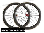 Carbon Road Bike Wheel 25mm Wide 60mm Clincher Alloy Brake Surface Straight Pull