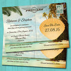 Personalised Beach Wedding Save the Dates & Envelopes *Tropical Postcard