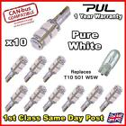 T10 CAR BULBS LED ERROR FREE CANBUS 9 SMD PURE WHITE W5W 501 SIDE LIGHT BULB