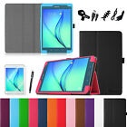"For Samsung Galaxy Tab A 8.0"" Tablet Folio Case Wake/Sleep Cover 8in1 Bundle"