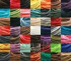 49clrs Leather Faux Suede 3mm Cord Thong Lace Flat Jewelry Beading DIY 5-90yd