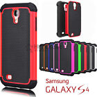 For Samsung Galaxy S4 Shockproof Hybrid Rugged Rubber Hard Shell Case Cover