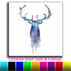 Abstract Stag Single Canvas Wall Art Picture Print 14