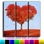 Love Heart Tree Landscape Canvas Art Print Triptych Treble Box Framed Picture 43