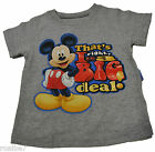 NWT GENUINE DISNEY MICKEY MOUSE That's Right, I'm a Big Deal TODDLER FREE SHIP