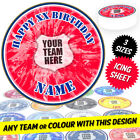 Personalised Football Soccer Teams Round Circle Cake Topper Printed on Icing