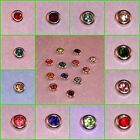 BIRTHSTONE FLOATING CHARMS FOR LIVING MEMORY LOCKET Silver Base 4mm
