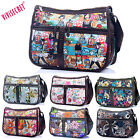 Women Waterproof Nylon Floral Crossbody Messenger bags Lightweight Famous Brand