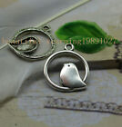 15/45pcs Fashion exquisite lovely hollow out the bird charm pendant