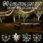100 Foot Outdoor Globe Patio String Lights - Set of 125 G40 Clear Bulbs