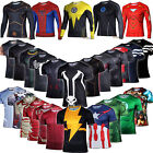 Men Compression T-shirt Tee Costume Sports Exercise Althletic Shirt Top Jersey