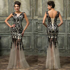 2015 STOCK Women Cocktail Mermaid Party Formal Evening Prom Wedding Gowns Dress