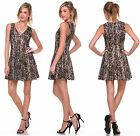 Fashion Women Floral Lace Sleeveless Cocktail Evening Party Casual Mini Dress