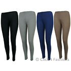 Ladies Womens Leggings Full Length Stretch Sizes 8 10 12 14 16 18