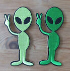 1 - Iron on - Peace Alien - Baby/Kids - Embroidered Patch - Applique/Cards