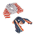 AMERICAN FLAG SCARF NORDSTROM D&Y Patriotic Stars & Stripes NEW Pareo