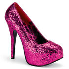 Hot Pink Glitter Mens Drag Queen Pageant Burlesque Dancer Shoes size 13 14 15 W