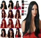 Halloween Wig Long Curly Straight Wavy Black Plum Red Ladies Full Head Hair WIGS