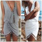 1pc Summer Womens Mini Dress Sleeveless Casual Cocktail Evening Party Beach FKS