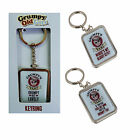 Grumpy Keyring Dad Grandad Secret Santa Mens Gift Keyfob Retachable Key Keychain