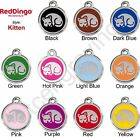 Red Dingo KITTEN Engraved Dog ID Pet Tag / Charm - Lifetime Guarantee