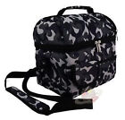 Double Layer Picnic Lunch Box Bag Fresh Thermos Bento Nylon Containers Sling Bag