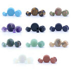 Semi Precious STONE Ear Plug Stretcher Tunnel Saddle Earlet Taper