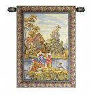 Washing By The Lake Fine Italian Tapestry Wall Hanging Free Hanging Rod