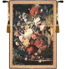 Bouquet Flamand Fine French Tapestry Wall Hanging    Free Hanging Rod