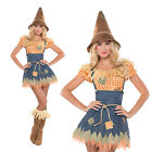 Womens Sultry Scarecrow Sexy Ladies New Fancy Dress Outfit Fairytale Costume