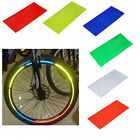 Fluorescent Bike Wheel Tire Rim Reflective Stickers Decal 6 Colors Safety