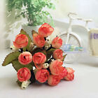 10 Bouquets Fake Mini Silk Roses Artificial Flowers Home Wedding Decoration Gift