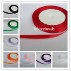 "100/250Yards 1/4"" 6MM Satin Ribbons Bow Wedding Party Gift Decoration DIY Craft"