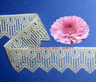 "2 Yards Lace Trim Ivory Vintage 1-3/4"" Woven R143V Added Items Ship No Charge"
