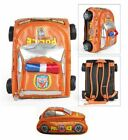 Autokids Child Backpack Anti-lost The Police Car Design Bag With Pencil Case