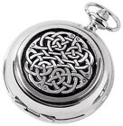 Celtic Neverending  Knot Pocket Watch, Woodford, Mens Gift, Boxed New