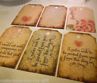 12 / 24 Vintage Love Quotes Shabby Chic labels/tags Wedding Wish Tags 6 designs