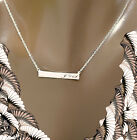 PERSONALIZED STERLING SILVER Monogram NAME BAR Necklace Custom Engraved FREE