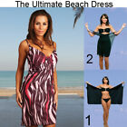 Saress CRANBERRY Beachdress Coverup Swimwear Bikini Wrap Sarong Dress