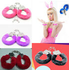 NEW Stylish Furry Fuzzy Handcuffs Soft Metal Adult Night Party Game Gift GR C A