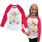Girls Official Minions Top Despicable Me Childrens Prom Queen 7-8 Years T Shirt