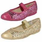 Girls Clarks Dance Solo Inf Gold Or Pink Synthetic Glitter Party Shoes F Fitting