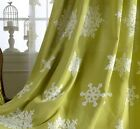 Custom French Country Children Kids Star Embroidery Green Window Curtain