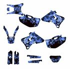 WR250F WR400F WR426F GRAPHICS DECAL KIT FOR YAMAHA 1998 - 2002 ZOMBIE #9500 BLUE